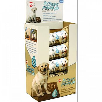 Clean Paws Microfiber Mat Display ASSORTED 12 PIECE