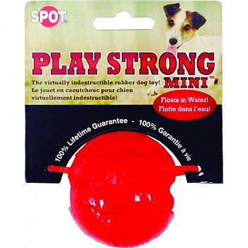 Play Strong Mini Rubber Ball RED SMALL