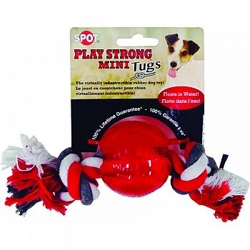 Play Strong Mini Tugs Ball With Rope RED SMALL