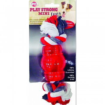 Play Strong Mini Tugs Chew With Rope RED SMALL