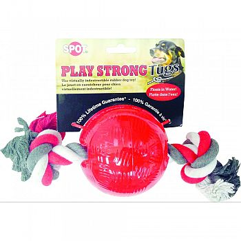 Play Strong Tugs Ball With Rope RED MEDIUM