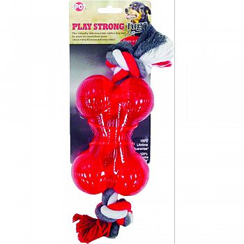 Play Strong Tugs Bone With Rope    New Item   1231 RED MEDIUM
