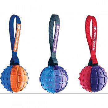 Push To Mute Ball With Strap ASSORTED 3 INCH