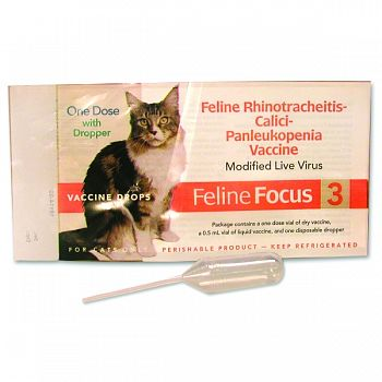 Focus Feline 3 Vaccine Drops  .5 MILLILITER