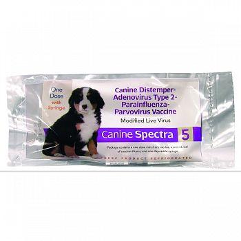 Spectra 5 Dog Vaccine W/syringe  1 DOSE