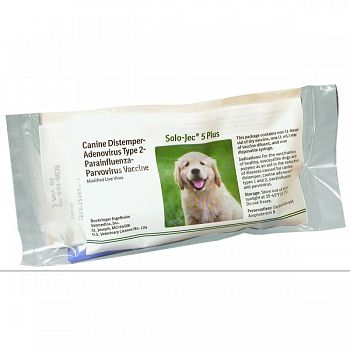 Solo-jec 5-plus W/ Syringe For Dogs GREEN 1 DOSE