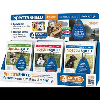 Spectra Shield For Dogs Counter Display 4 MONTH 18 PC