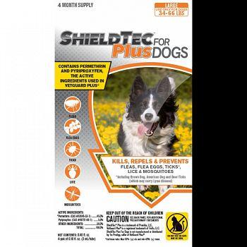 Shieldtec Plus For Dogs 4-pack  34-66 LB