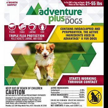 Adventure Plus For Dogs 4-pack  21-55 LB