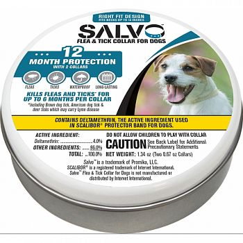 Salvo Flea And Tick Collar For Dogs 2-pack  SMALL