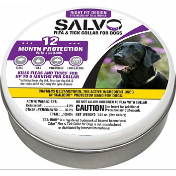 Salvo Flea And Tick Collar For Dogs 2-pack  LARGE