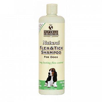 Natural Flea & Tick Shampoo for Dogs 16 oz
