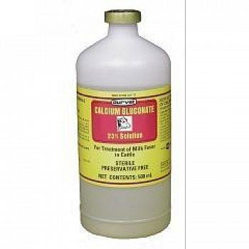 Calcium Gluconate 23% - 500 ml (Case of 12)
