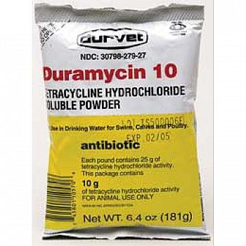 Duramycin 10 Livestock Antibiotic - 6.4 oz.