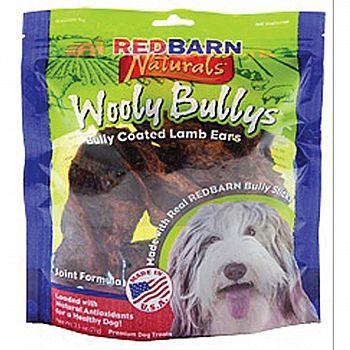 Natural Wooly Bullys Dog Lamb Ears