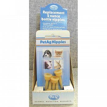 Pet Elongated Nipples 2 oz 5 Pack