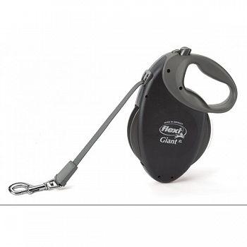 Giant Retractable Soft-grip Dog Leash,  XLarge / Black /26 ft.
