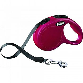 Flexi Classic Tape Extendable Dog Leash RED 10 FOOT