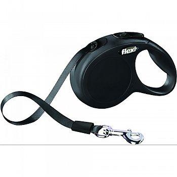 Flexi Classic Tape Extendable Dog Leash BLACK 10 FOOT