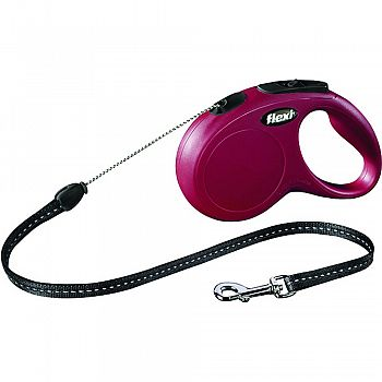 Flexi Classic Cord Extendable Dog Leash RED 16 FOOT