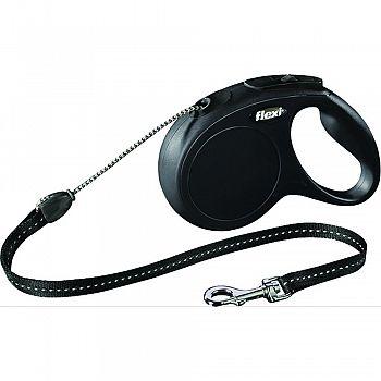 Flexi Classic Cord Extendable Dog Leash BLACK 16 FOOT