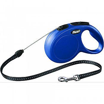 Flexi Classic Cord Extendable Dog Leash BLUE 26 FOOT
