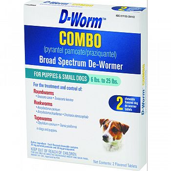 D-worm Combo Small Dog  2 PACK