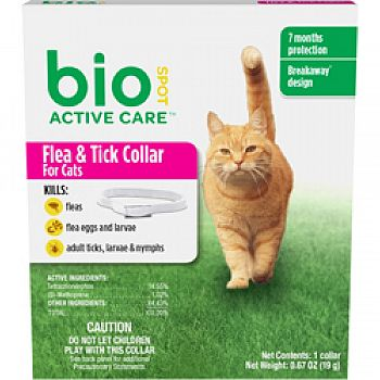 Bio Spot Active Care Flea & Tick Collar For Cats