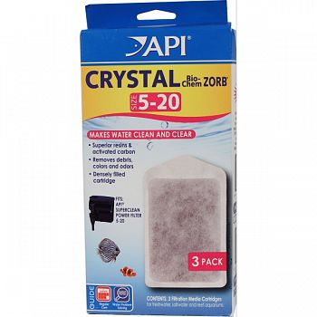 Crystal Bio-chem Zorb Filter Replacement Cartridge  SIZE 5-20/3PACK