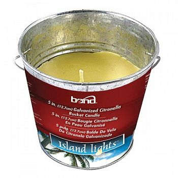 Galvanized Citronella Bucket Candle - 5 in.
