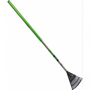 Floral Shurb Rake 8 ,48 , 25  Cush Grip WOOD/GREEN 55X8X1 INCH