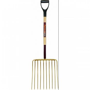 Garant 10 Tine Ensilage Fork With D Grip Handle  16 INCH