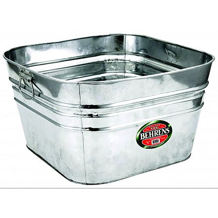 Hd Steel Square Utility Tub Garden Tools - GregRobert Pet Supplies