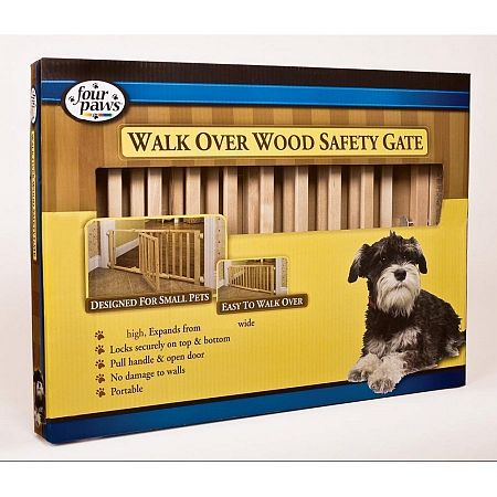 Four Paws Walk Over Wooden Gate W Door 18 Inch Dog
