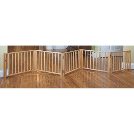 Free Standing Walk Over Wood Pet Gate