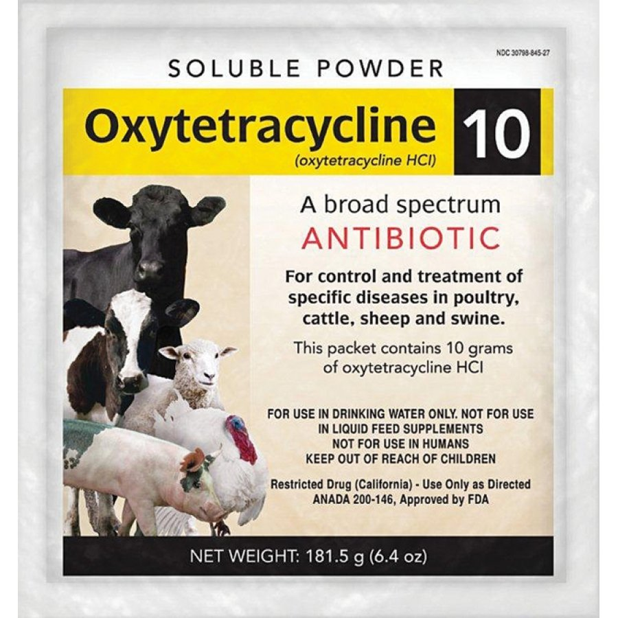 Oxytetracycline 10 Livestock Antibiotic - 6.4 oz. - GregRobert