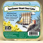 Wild bird food. Featuring sunflower hearts and chopped peanuts. Feed year round.  Pine Tree Farm's Wild Bird Suet is rendered beef kidney fat. Top quality seeds, grains, peanut butter and peanuts. 12 oz.