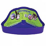 The Lock-N-Litter Pan is the perfect size for your small animal pet. Helps to keep your pet's cage clean and the odor under control. Great for promoting healthy habits for your pet. Assorted colors. Made of stain and odor resistant plastic.