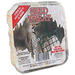 The Seed Suet Treat comes in a case of 24 making it convenient and economical. Easy to place in a suet feeder and hang and your backyard birds can enjoy it any time of the year. Attract all kinds of wild birds to your backyard buffet!
