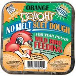 Feed your wild birds year round Orange Delight Suet Dough by C and S. This delicious treat is ideal for year round wild bird feeding in all types of weather. Nutritionally balanced to provide wild birds with much needed energy when they need it.
