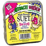 Hi-Energy Suet Cakes by C and S attract a wide variety of wild birds. Works will in a suet feeder or may be placed in a nylon sack. This high energy formula is great for all types of wild birds and gives them the extra energy that they need.
