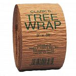 Constructed of two 30 lb. layers of high quality kraft paper. Clarks Tree Wrap gives landscape projects an attractive neat look while providing protection from sun scald, windburn, severe frost, and lawn trimers, as well as helping to preserve the moistur