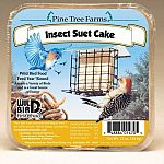 Your backyard birds will love Insect Suet Cake for wild birds by Pine Tree Farms. This highly nutrituous blend of beef suet, ground peanuts, cracked corn, dried mealworms and crickets. Ideal for insect eating birds and year round feeding.