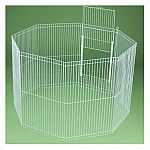 The Clean Living Playpen is ideal for a small dog or for a small animal. Attaches to any Clean Living Cage for small animal pets to expand your pet's living space. May be used by itself indoors or outdoors as an exercise pen. Made of quality construction.