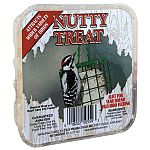 Wild birds will love this nutty suet treat and is sure to make your backyard buffet irresistible to wild birds. No mess! Just place the suet treat in a suet basket and hang. Great for year round feeding.