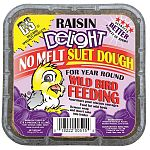 The Raisin Delight Suet Dough by C and S will delight your backyard with the great taste of raisin. This raisin treat is perfect for year round feeding and won't melt in hot weather. Provide wild birds with much needed energy and creates less waste and m