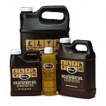 A combination of natural and synthetic oils used by saddle makers and boot makers to softe, preserve and waterproof smooth l.