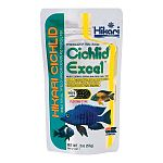 Hikari Cichlid Excel is specially formulated for herbivorous (plant eating) fish. This formula combines wheat-germ, spirulina and vitamins and minerals to provide a diet that is extremely nutritious, easy to digest, provides powerful color enhancement.