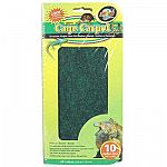 An ideal terrarium liner; better than artificial grass, because it's soft and will not irritate the reptile's underside. Great for use with Reptitherm Undertank Heater (sold separately). 2 pre-cut Cage Carpets per package.
