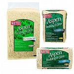 Kaytee Aspen Bedding and Litter for Small Animals is made of aspen wood shavings and processed to reduce dust. Made of a hardwood and may be used in all types of cages, aquariums and habitats. Biodegradable. Available in three sizes.